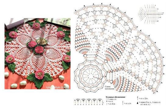 Patrones de Carpetas de Crochet Tejido Facil Patr n Carpeta