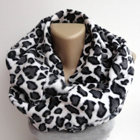 leopard fleece scarf ,infinity scarves ,winter fashion accessories ,trendy scarf | scarf | Scoop.it