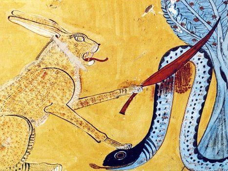 Les animaux sacrés, un chat poignardant un serpent ! (12) en ... | Egypte antique | Scoop.it