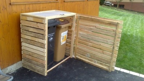 Pallet garbage bins shelter | 1001 Pallets | bancoideas | Scoop.it