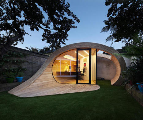 This Home Office Is A Backyard Hideaway | Light & other related things | Scoop.it