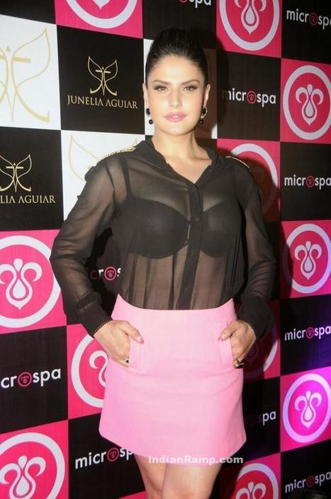 Zarine Khan in Black Transparent see through Shirt and Pink Short Skirt, Actress, Bollywood, Western Dresses | Indian Fashion Updates | Scoop.it