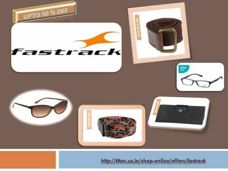 Fastrack Online Offers & Deals - Buy Sunglasses, Bags, Wallets, Belts | Online Shopping Goods | Scoop.it
