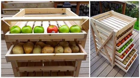 Diply.com - An Easy-To-Make Food Storage Shelf | Craft Ideas | Scoop.it