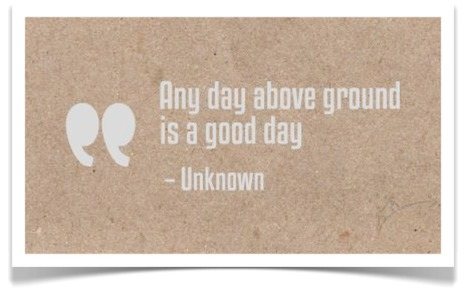 Leading Beyond the Status Quo – Any Day Above Ground is a Good Day! #Leadership | #BetterLeadership | Scoop.it