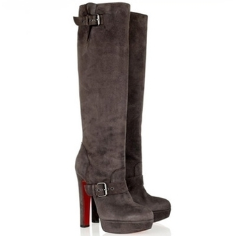 Christian Louboutin Red Bottoms Harletty 140 Suede Boots Chocolate,Discount Christian Louboutin Red Bottoms Shoes,Christian Louboutin Red Bottoms Shoes,Christian Louboutin Red Bottoms Boots,Christi... | Red Bottom Shoes | Scoop.it