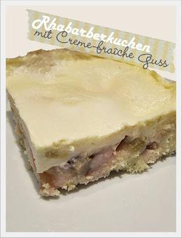 Genusskochen: Rhabarberkuchen mit Creme-fraîche-Guss   Brownies, Muffins, Cheesecake & andere Leckereien   Scoop.it