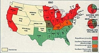 The Election of 1860 [ushistory.org] | United States--History--1861-1865, Civil War | Scoop.it