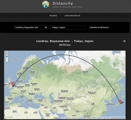 Calculer la distance entre deux villes, Distancy   PersoFred15   Scoop.it