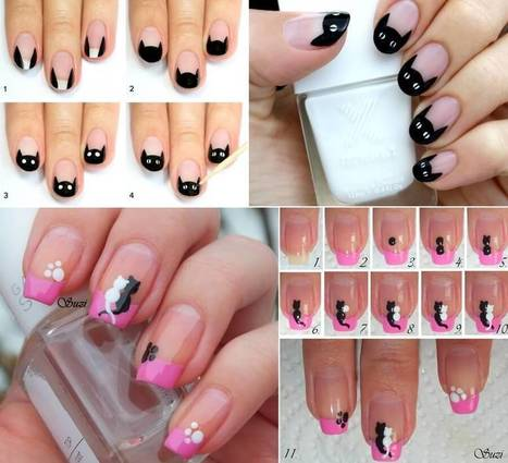 Cute and Cool Cat Nail Art Ideas   Stylish Board   Scoop.it