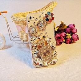 bling iphone 4.4S / iphone 5 case decor 3D diamond perfum bottle and gem flower - | bling iphone case | Scoop.it