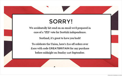 Oops! Retailer hails independent Scotland | International Marketing Communications | Scoop.it