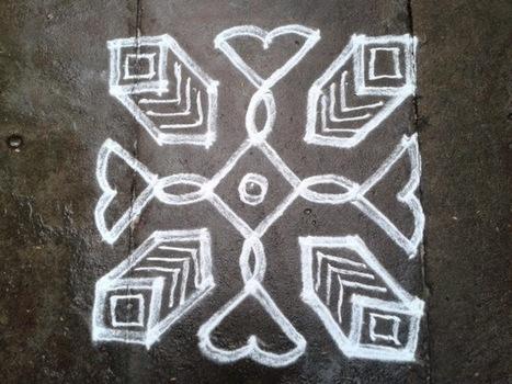 Rangoli designs/Kolam: [S.no 139] 7 Pulli 7 Varisai Box Kolam | artes decorativas | Scoop.it