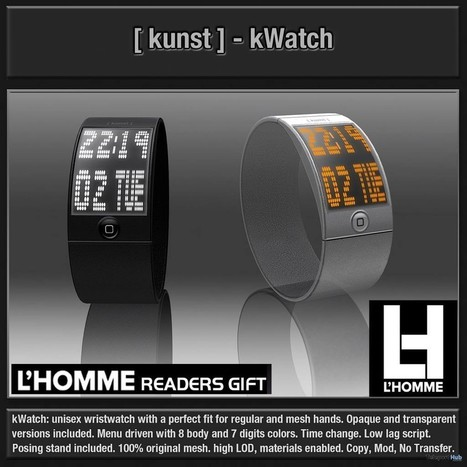 kWatch L'Homme Magazine Group Gift by kunst | Teleport Hub - Second Life Freebies | Second Life Freebies | Scoop.it