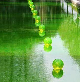 """Water in a bubble"" by Shigeko Hirakawa 