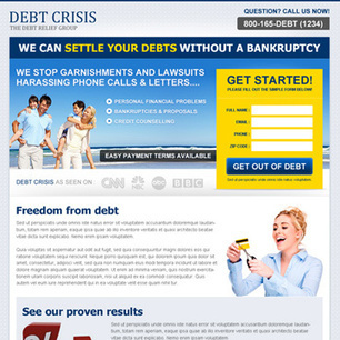 settle your debts without a bankruptcy clean and effective lander design | converting and effective landing page designs | Scoop.it