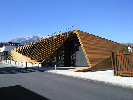 OBIA renovates ice rink with wooden leaf-shaped lattice in bulgaria - designboom | architecture & design magazine | TAD - TECHNOLOGY ARCHITECTURE & DESIGN | Scoop.it