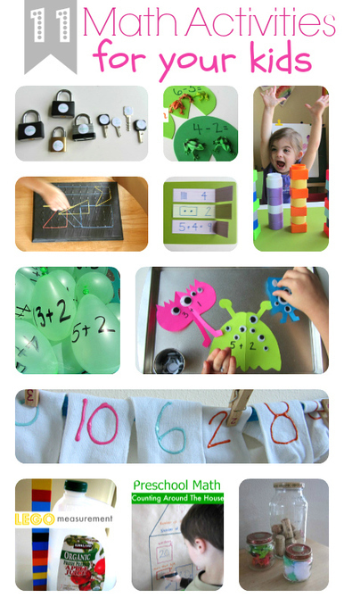 11 Fun Math Activities For Kids - No Time For Flash Cards | Elementary Math | Scoop.it