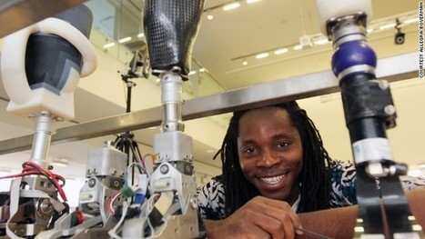 "Sierra Leone's civil war survivor creates 'perfect fit' bionic limbs | L'impresa ""mobile"" 