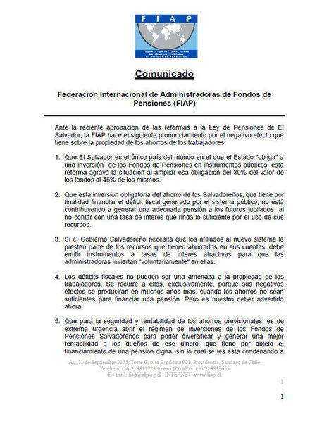 GOES obliga a AFPs a invertir fondos para refinanciar deuda pública   El Salvador - Economía (deuda pública y pensiones)   Scoop.it
