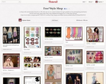 Pinning in Free*Style | Awesome Shares from, Second Life Bloggers! | Scoop.it