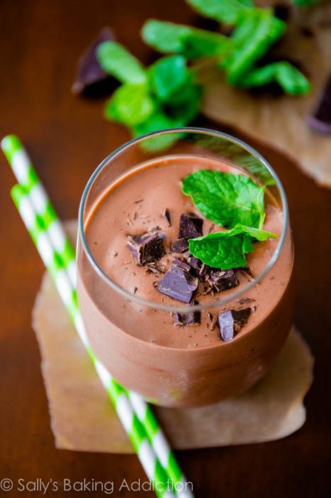 #HealthyRecipe / Skinny Mint Chocolate Milkshakes. | Hospitality | Scoop.it