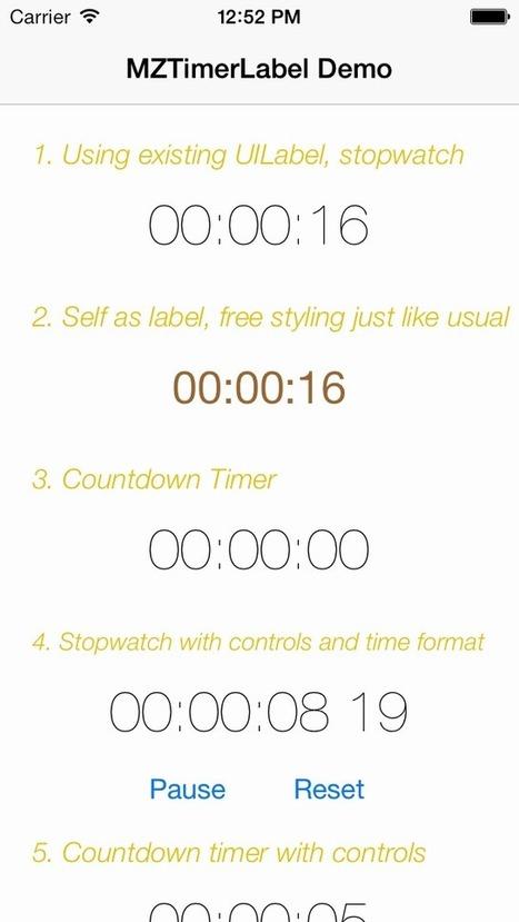 MZTimerLabel for iOS - Cocoa Controls | Developpement iOS | Scoop.it