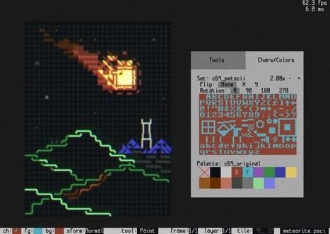 Playscii - an open source ASCII art and animation program | Creatividiario: recursos, inspiración y motivación para creadores en la web | Scoop.it