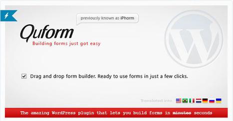 Quel plugin choisir pour créer des formulaires avec WordPress ? | Mes ressources personnelles | Scoop.it