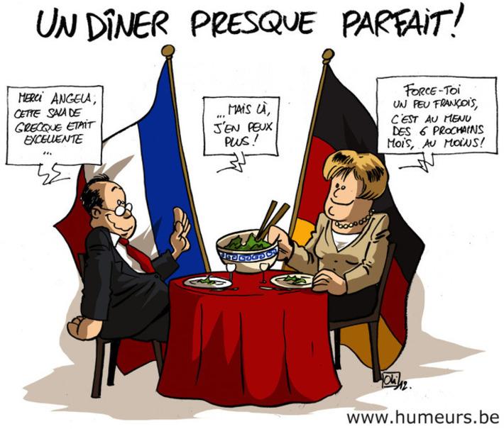 La Grèce au menu du dîner Franco-Allemand | Baie d'humour | Scoop.it