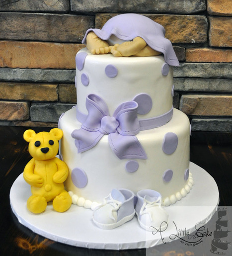 2 Tiered Baby Shower Cake | Custom Cakes for You | Scoop.it