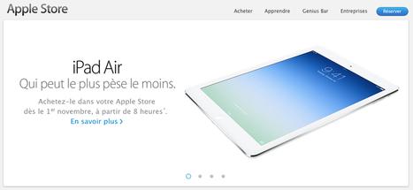 iPad Air : ouverture des AppleStore le 1er novembre | La Mêlée Numérique by Lydia | Scoop.it