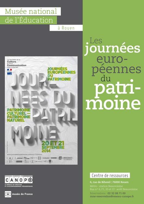 Les JEP au MNE : sam 20 et dim 21 sept au centre de ressources à Rouen   Actualités du Musée national de l'Education (Munaé)   Scoop.it