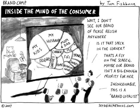 """Inside the Mind of the Consumer"" cartoon | Tom Fishburne: Marketoonist | Consumer Centricity | Scoop.it"