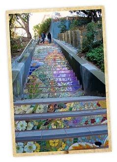 16th Avenue Tiled Steps - Weekend Sherpa | Hidden Garden Steps | Scoop.it