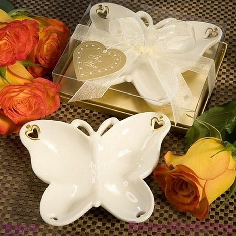 TC017 Porcelain Butterfly Candy Dish Wedding Party Gifts | 純歐式婚禮喜糖盒 倍樂婚品 | Scoop.it