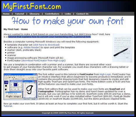 My First Font - How to make your own font | Artdictive Habits : Sustainable Lifestyle | Scoop.it
