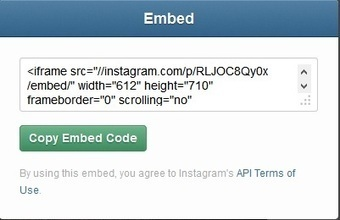 Quick Way to Embed Instagram Photos and Videos | SocialMedia_me | Scoop.it