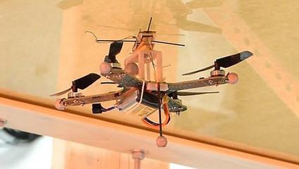 Un micro-drone qui peut se fixer sur les murs et les plafonds | Geeks | Scoop.it