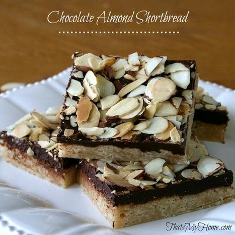 Chocolate Almond Shortbread #chocolatealmondshortbread #cookierecipes   Food   Scoop.it