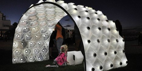 The 3D Printed Solar Bytes Pavilion Records the Day and Plays It Back at Night | whatever | Scoop.it
