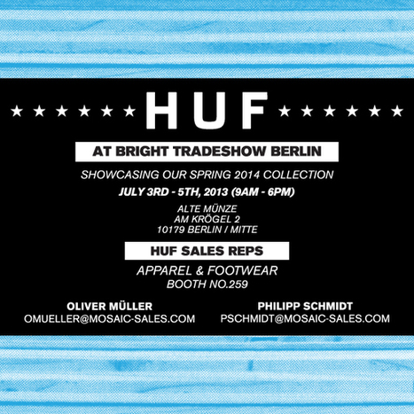 HUF AT BRIGHT TRADESHOW BERLIN // JULY 3RD – 5TH | huf ... | tradeshows and exhibitions | Scoop.it