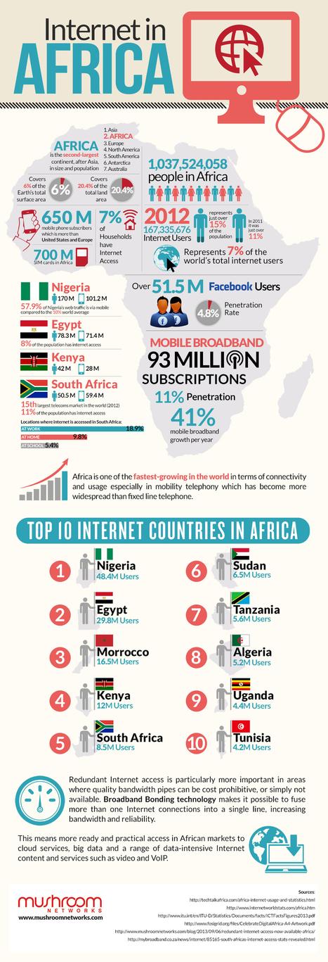 Internet : les 10 pays les plus connectés d'Afrique | Sociologie du numérique et Humanité technologique | Scoop.it