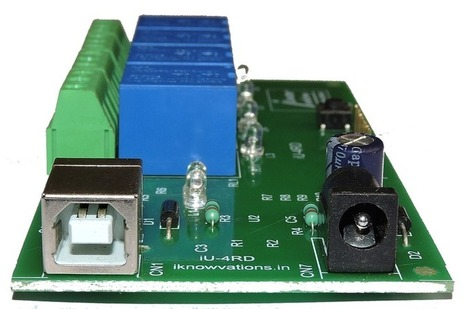 4 channel USB Relay & DAQ board iU-4RD launched. - iknowvations.in | Serial LCD | Scoop.it