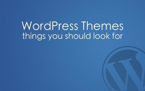 Things to Look for in a New WordPress Theme #WP | Mon cyber-fourre-tout | Scoop.it
