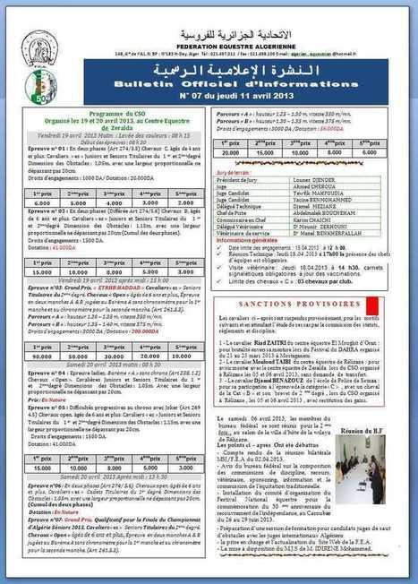 Fédération Equestre Algérienne | Joomla! Algérie | Scoop.it