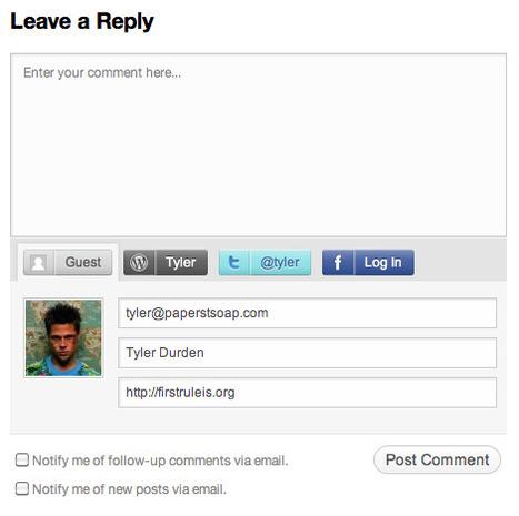 Laisser des Commentaires en Utilisant Twitter etFacebook — Blog — WordPress.com   Outils et  innovations pour mieux trouver, gérer et diffuser l'information   Scoop.it