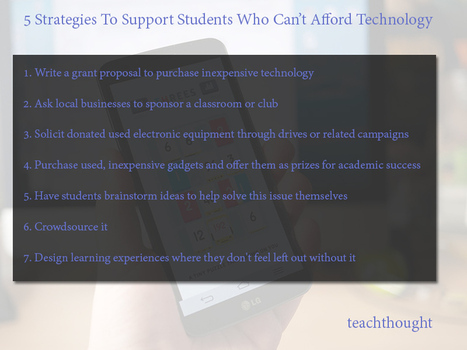 5 Strategies To Support Students Who Can't Afford Technology | Educational Technology | Scoop.it