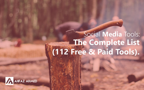 Social Media Tools: The Complete List(112 Free & Paid Tools) | Asuntos de Interés | Scoop.it