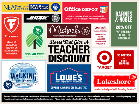 100+ Stores That Give a Teacher Discount - BestCollegesOnline.com | Each One Teach One, Each One Reach One | Scoop.it